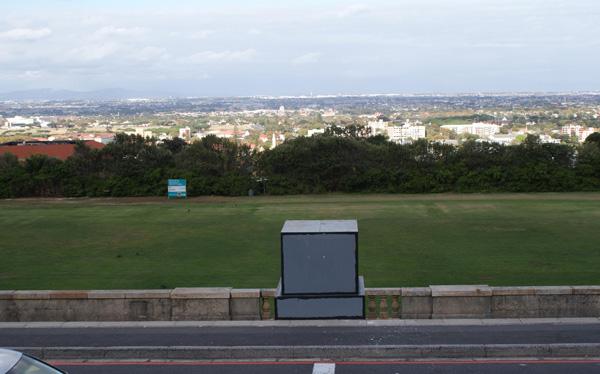 Die Stelle, wo Cecil Rhodes thronte.